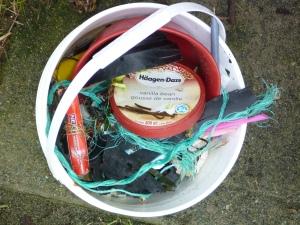 Bucket of trash