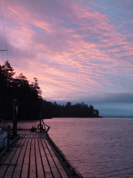 Pedder Bay sunrise - 30 January 2013