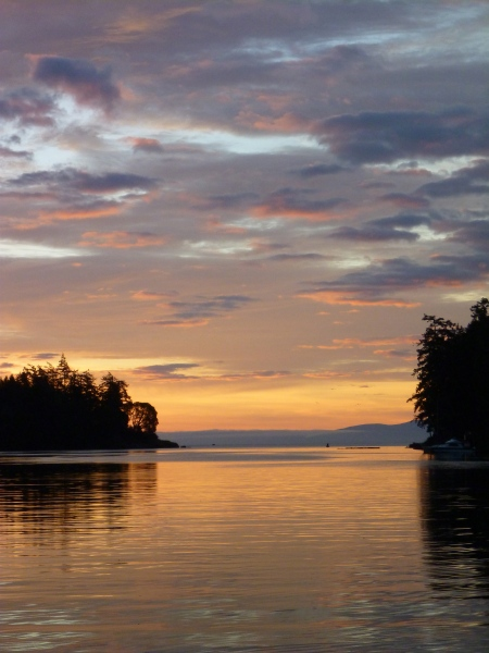 Pedder Bay sunrise - 4 February 2013