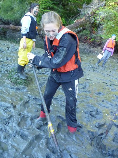 Catherine digging