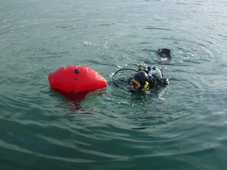 Isaac swimming