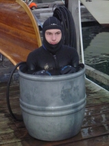 Ian in a bucket