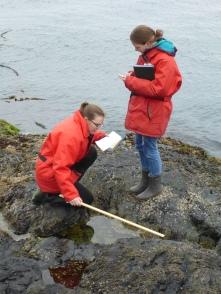 Abigail and Annie measuring dimensions